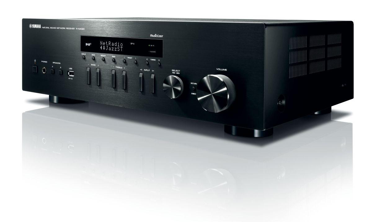 Network receiver yamaha r n402d musiccast av magazine for Porta s pdif